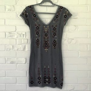 Free People Embroidered Body Con Dress Sz XS NWOT